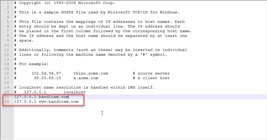 Редактирования файла hosts